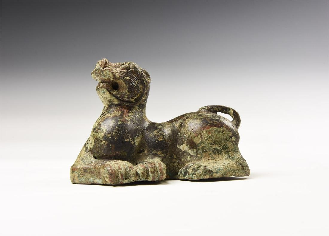 Chinese Bronze Style Dog Statuette.
