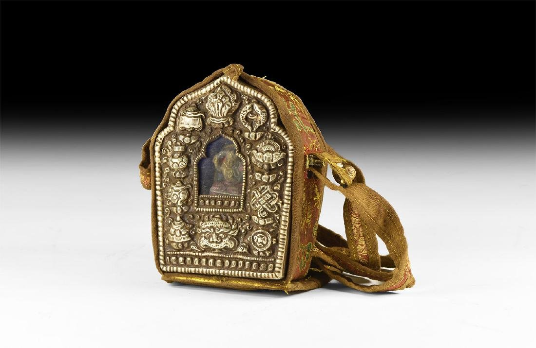 Tibetan Reliquary in Holder