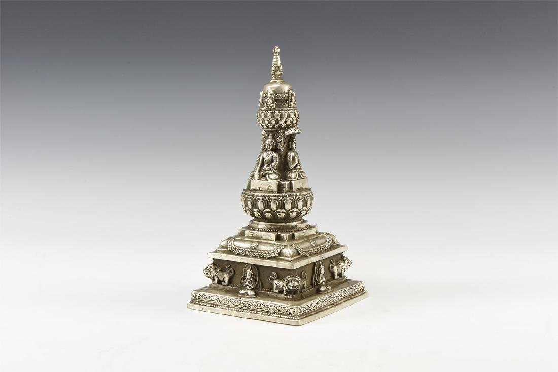 Chinese Style Stupa with Buddhas.