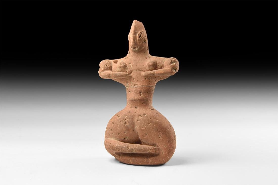 Western Asiatic Style Seated Idol.