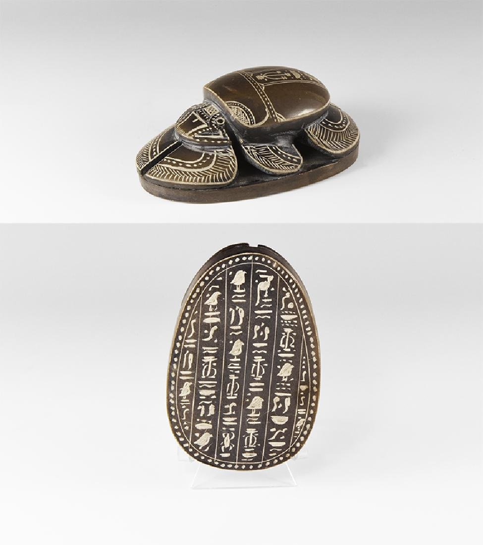 Egyptian Style Hieroglyphic Scarab.
