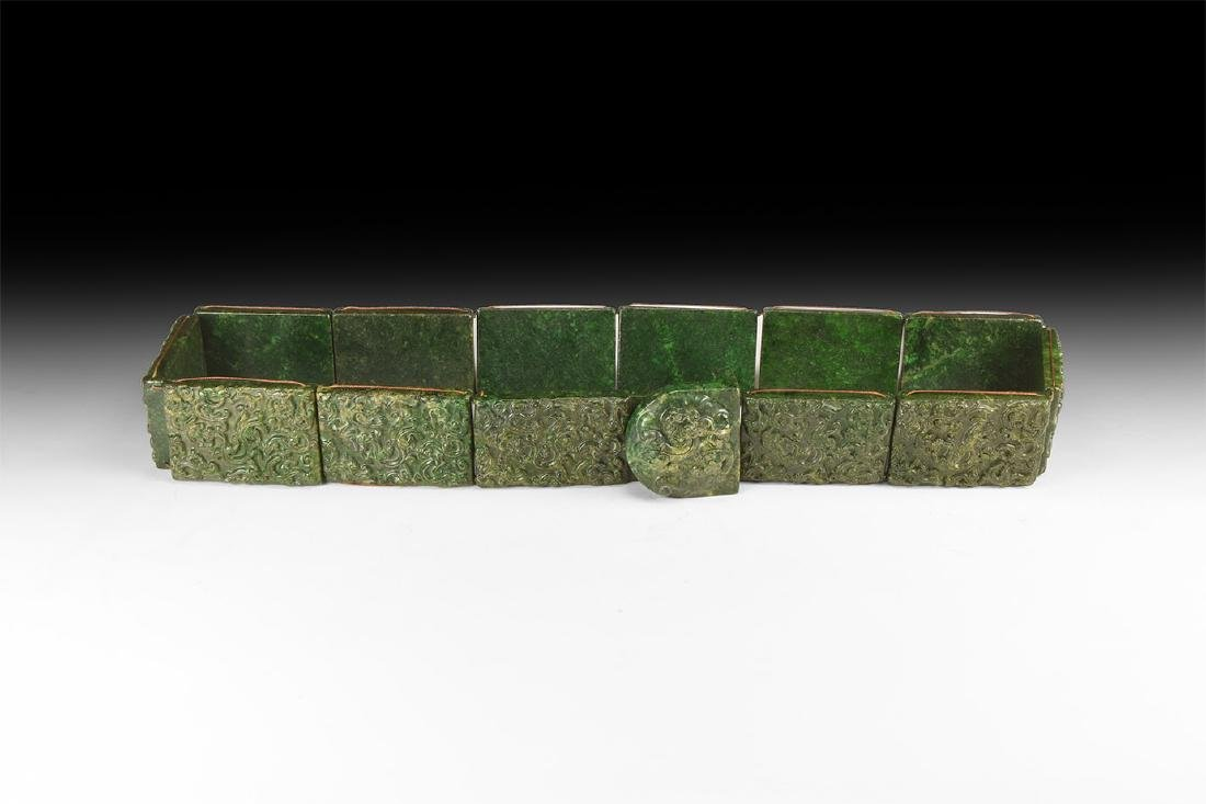 Chinese Style Carved Stone Belt