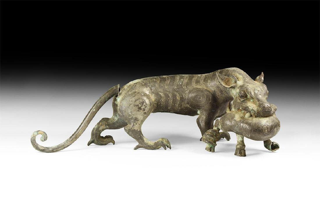 Chinese Style Lion Statue.