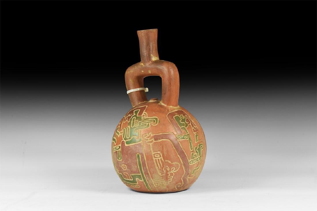 Pre Columbian Style Stirrup Vessel.