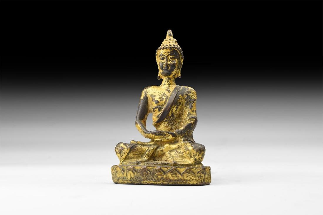 Chinese Style Gilt Statuette.