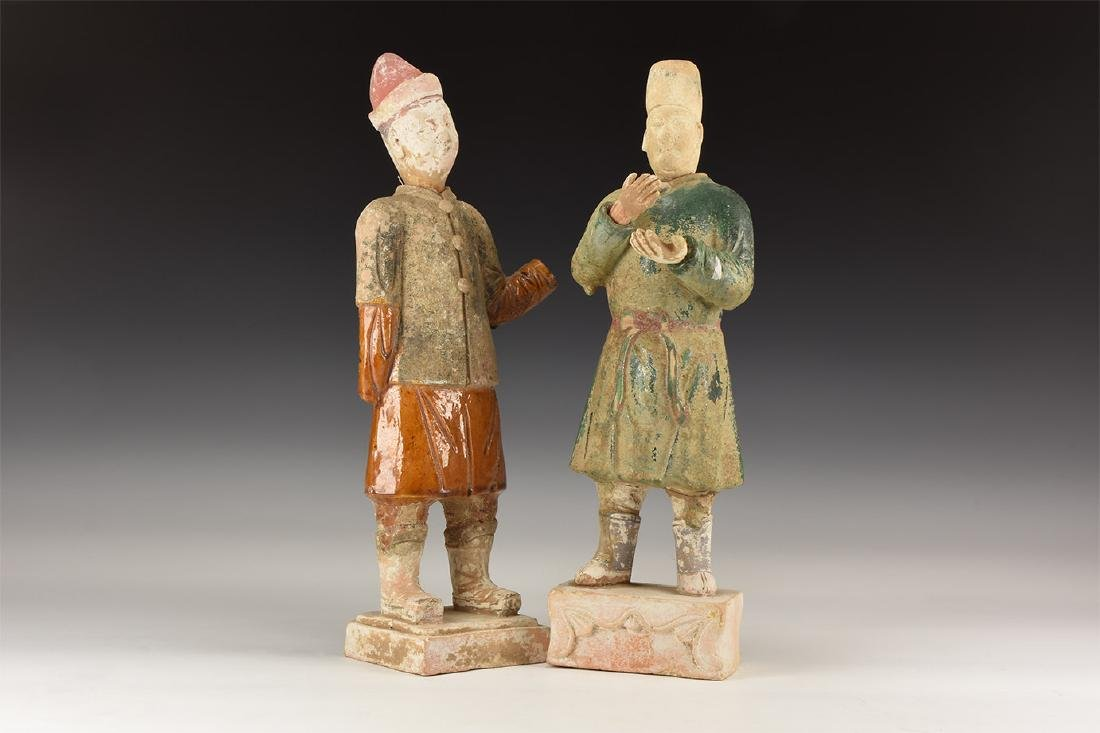 Chinese Ming Style Statuette Pair.