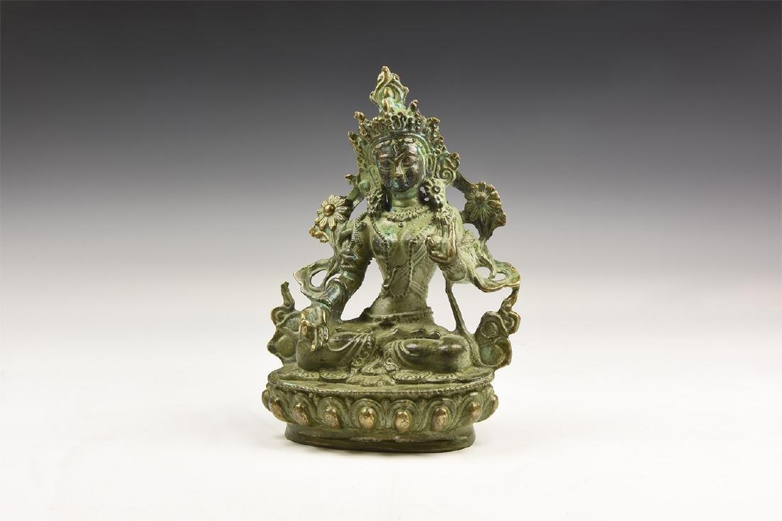 Chinese Arya Tara Statuette.