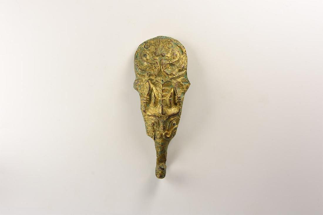 Chinese Gilt Belt Hook.