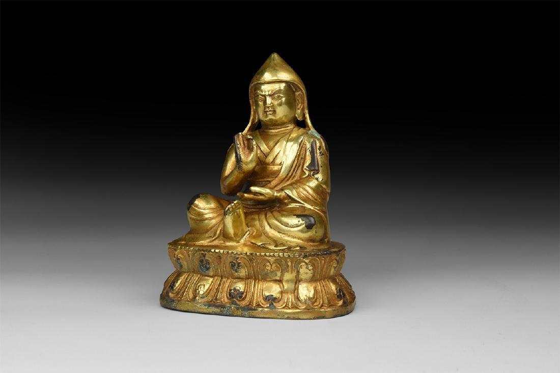 Tibetan Gilt Buddha Statuette