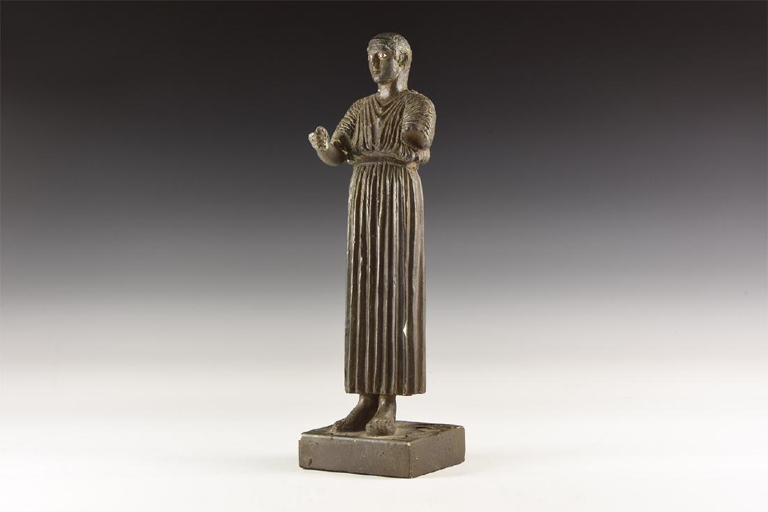 Greek Style Chrioteer of Delphi Statuette.