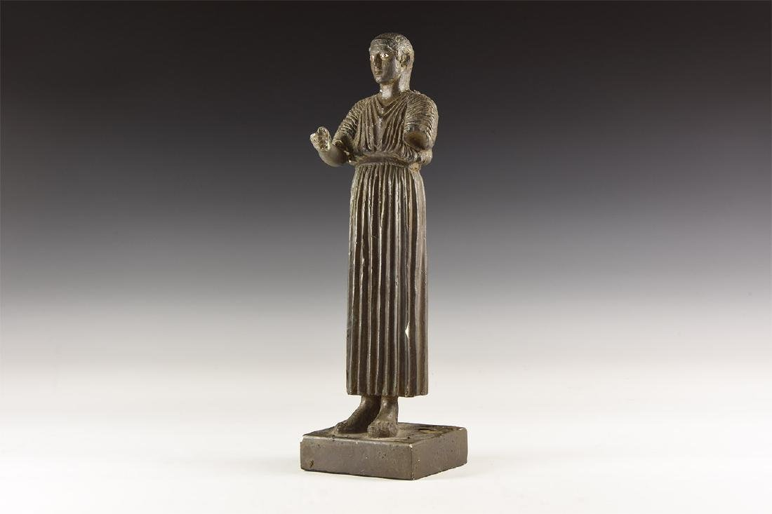 Greek Style Chrioteer of Delphi Statuette.