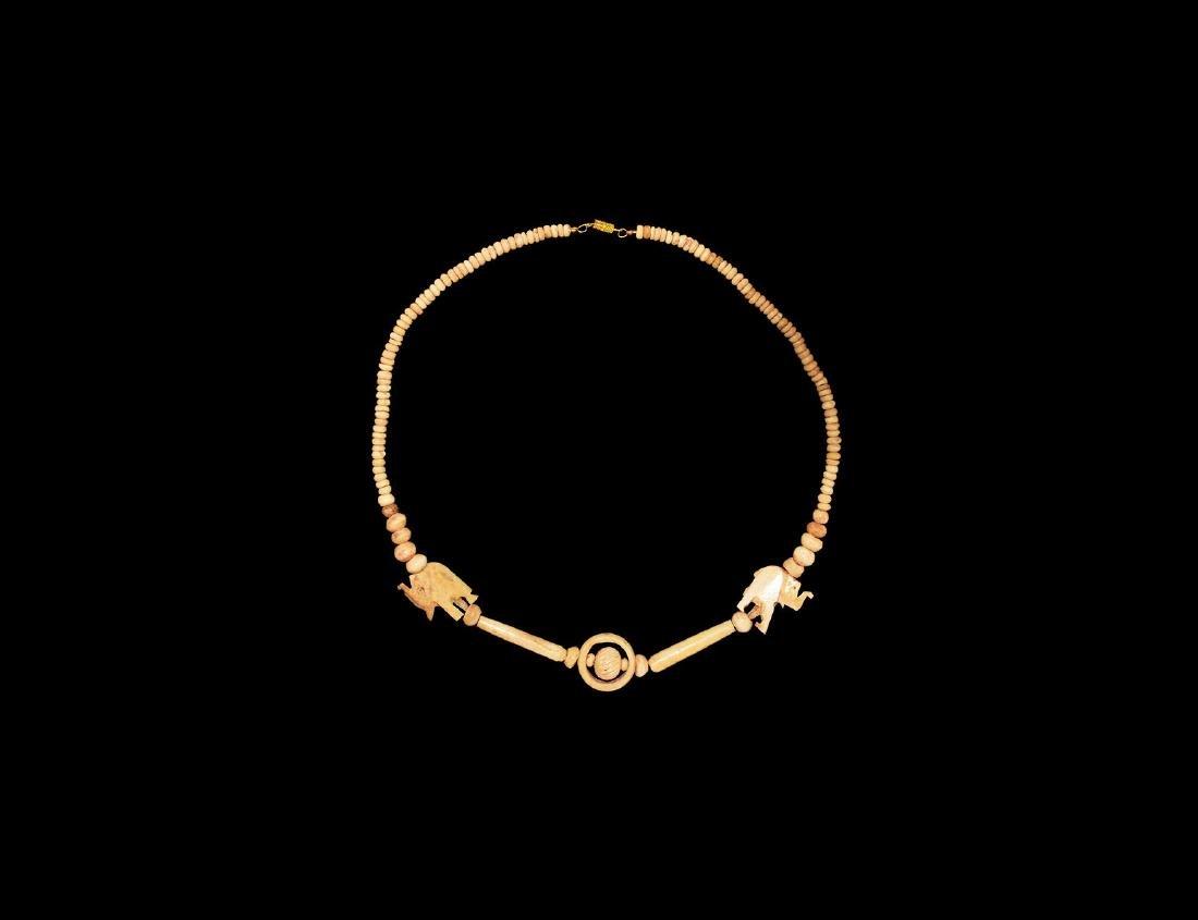 Indian Bone Bead Necklace