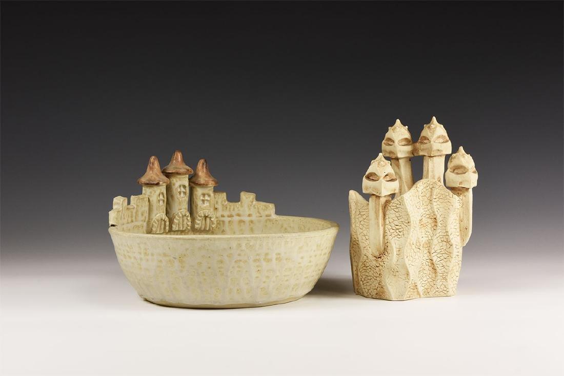 Vintage Castle Bowl and Gaudi Model Group [2]