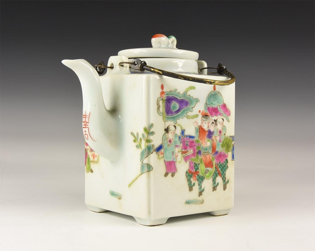Chinese Style Painted Teapot