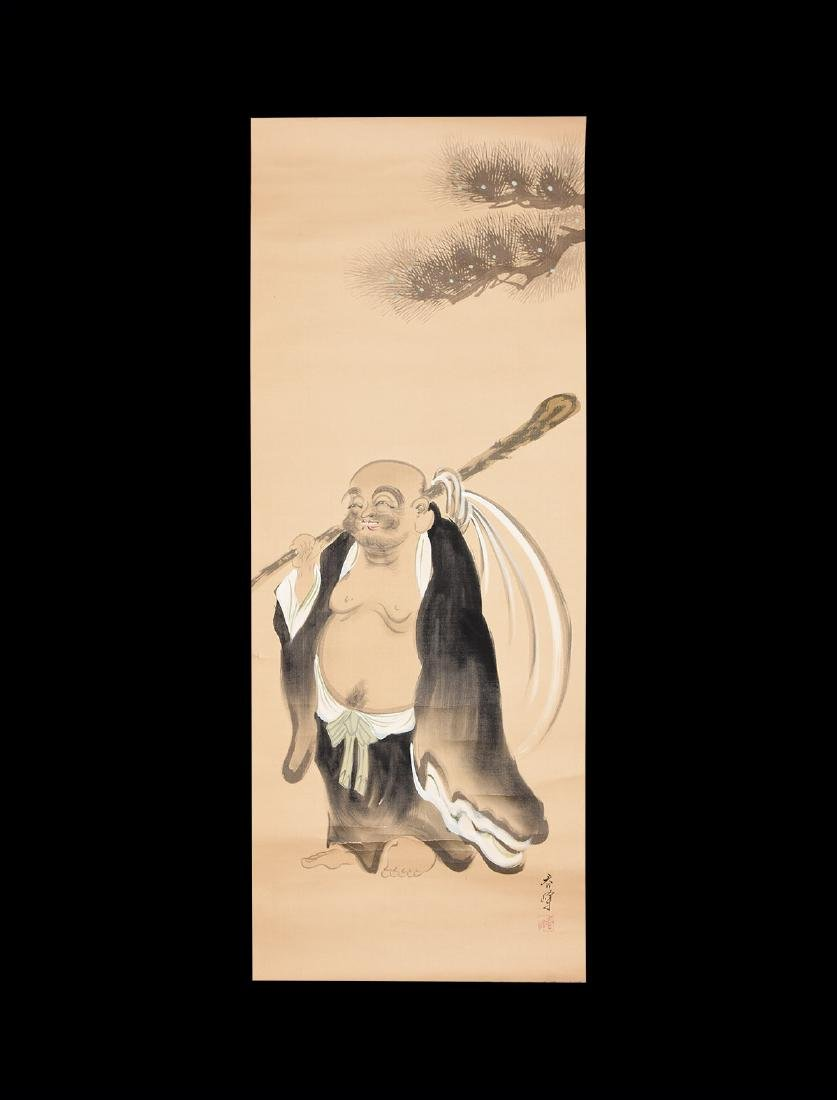 Chinese Scroll Painting with Figure