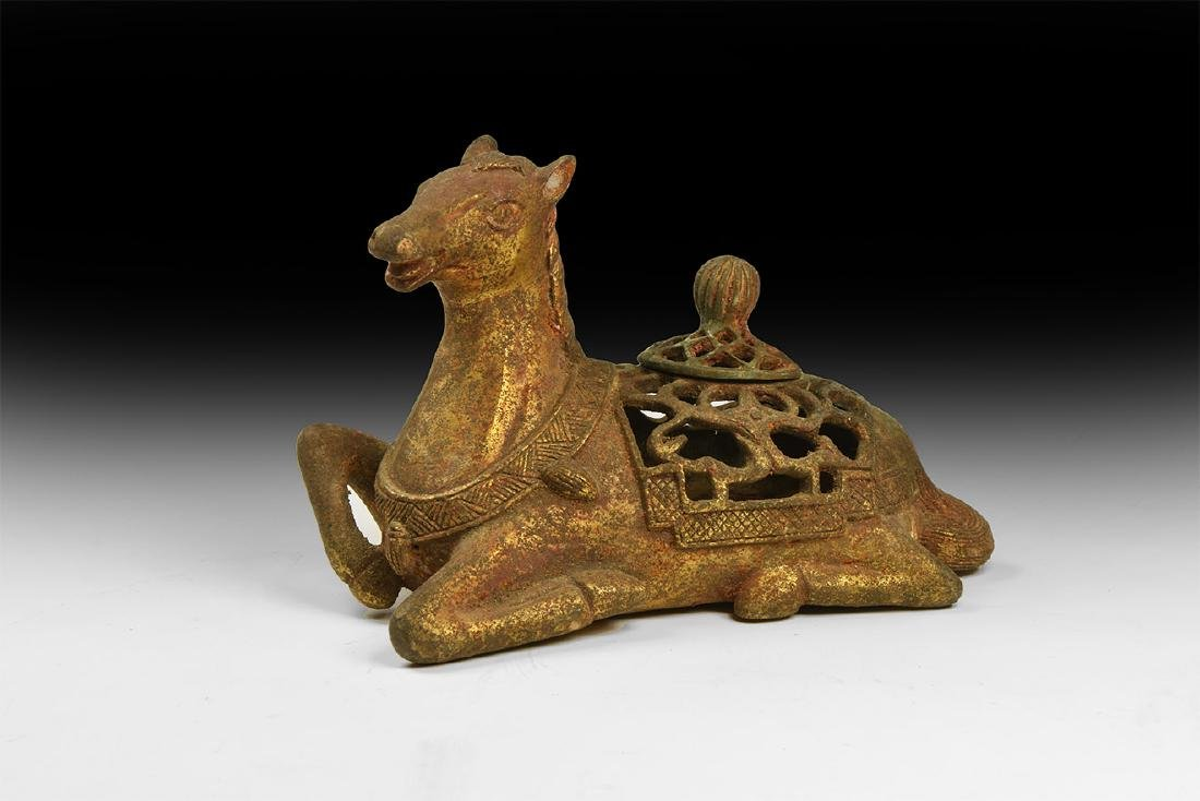 Chinese Gilt Horse Incense Burner.