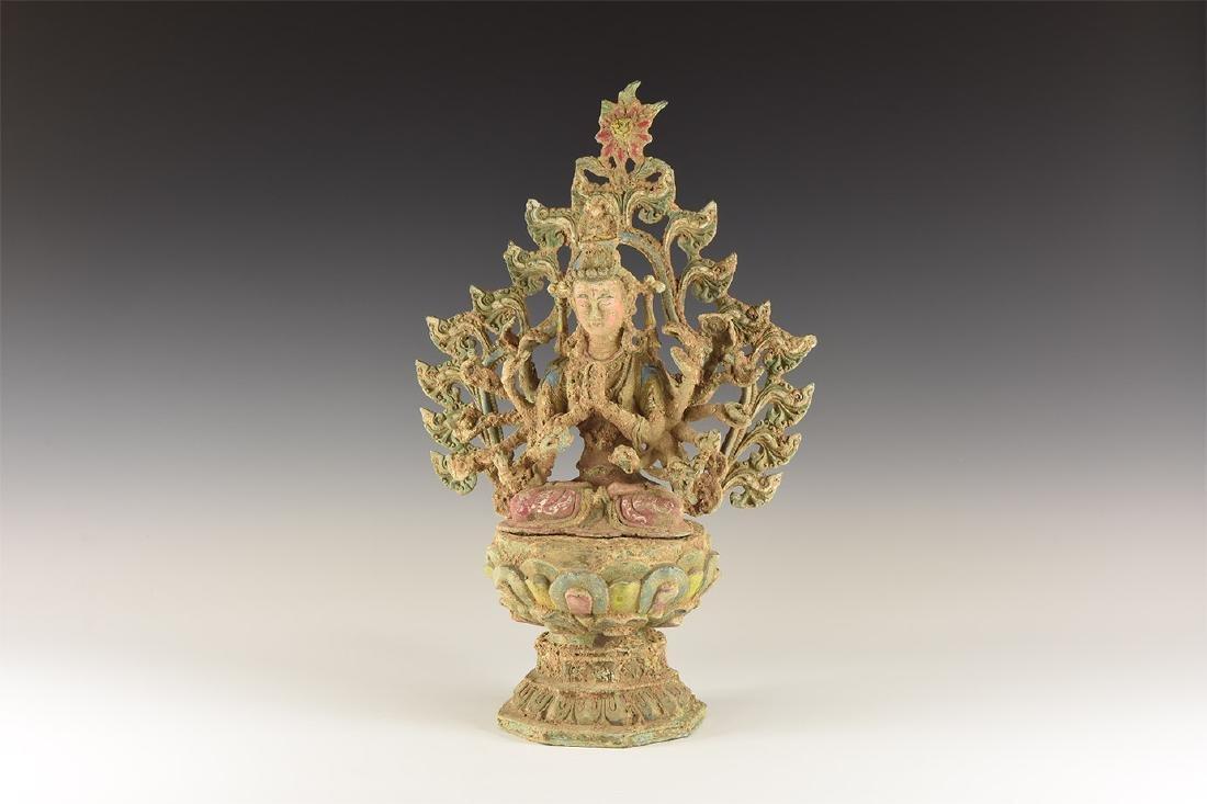 Indian Painted Durga Statuette