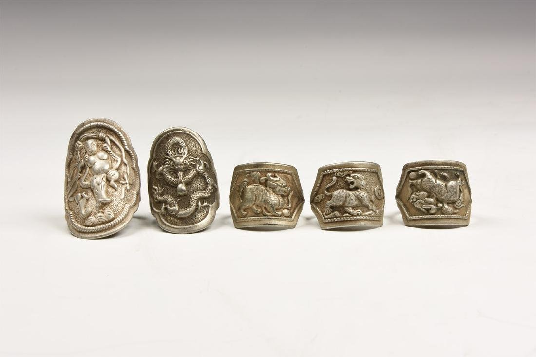 Chinese Finger Ring Group