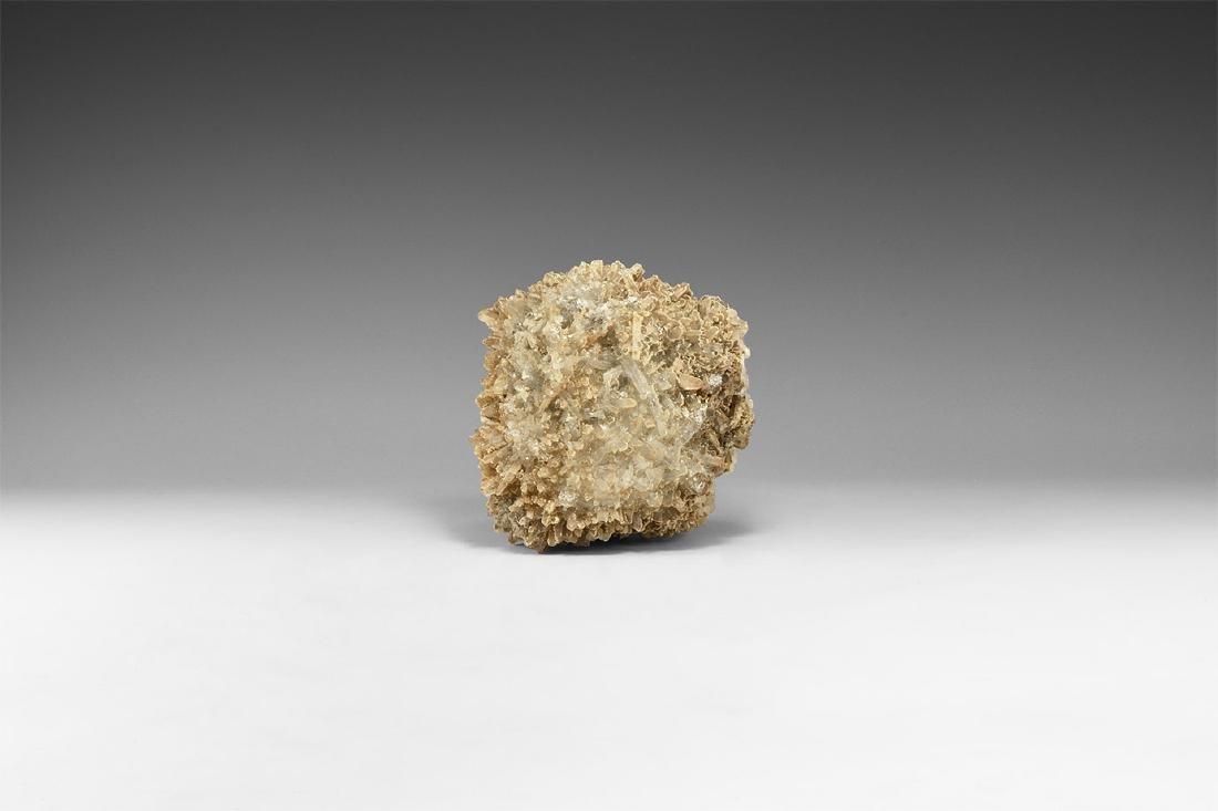 Quartz and Calcite Mineral Specimen.