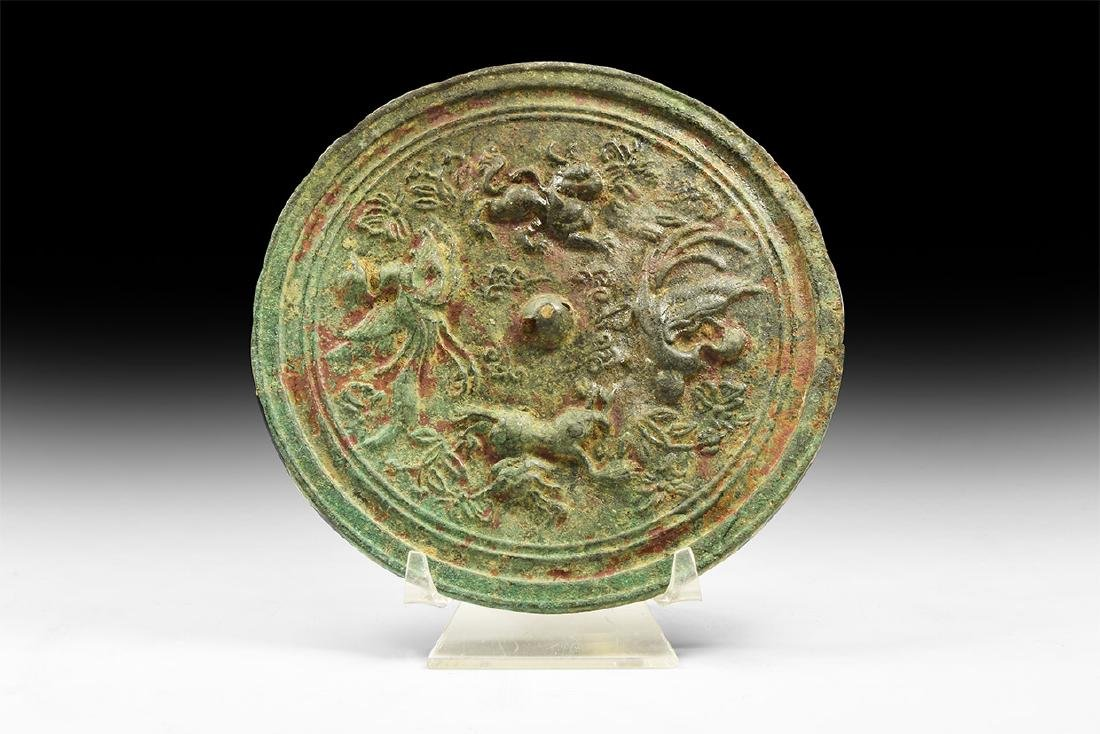 Chinese Mirror with Birds and Animals.