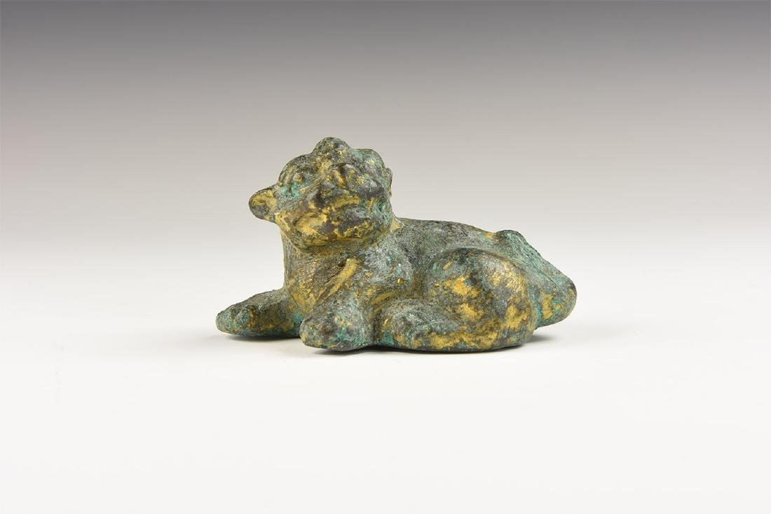 Chinese Style Gilt Dog Statuette.