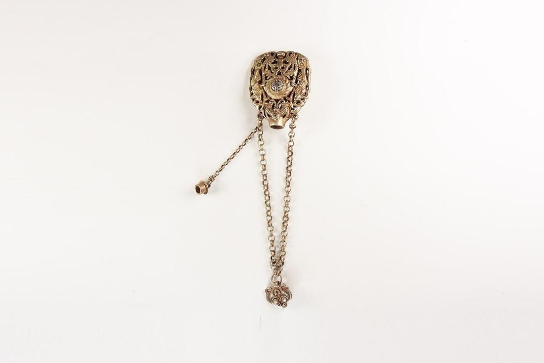 Chinese Bracelet and Pendant Set.