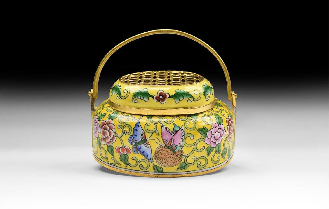 Chinese Style Enamelled Incense Burner