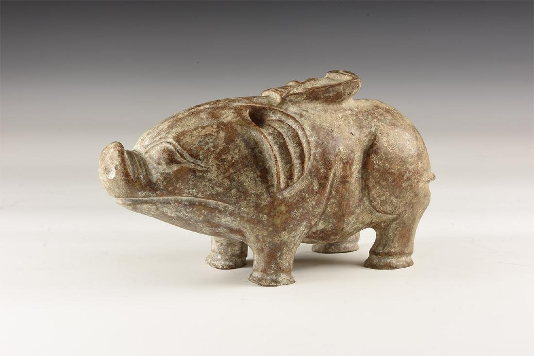 Chinese Carved Pig Statuette