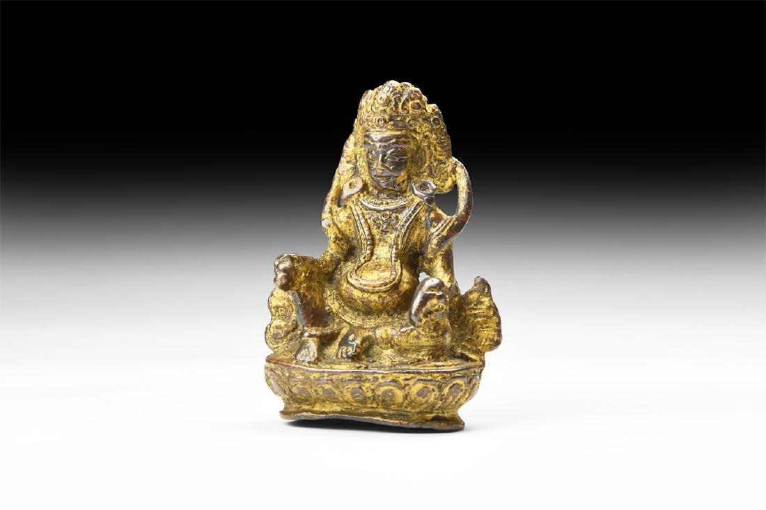 Chinese Style Gilt Shiva Statuette.