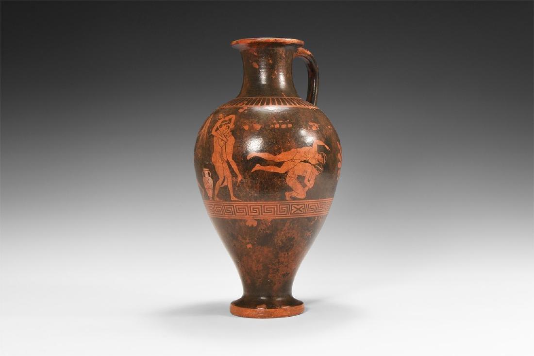 Greek Style Painted Oinochoi Vessel