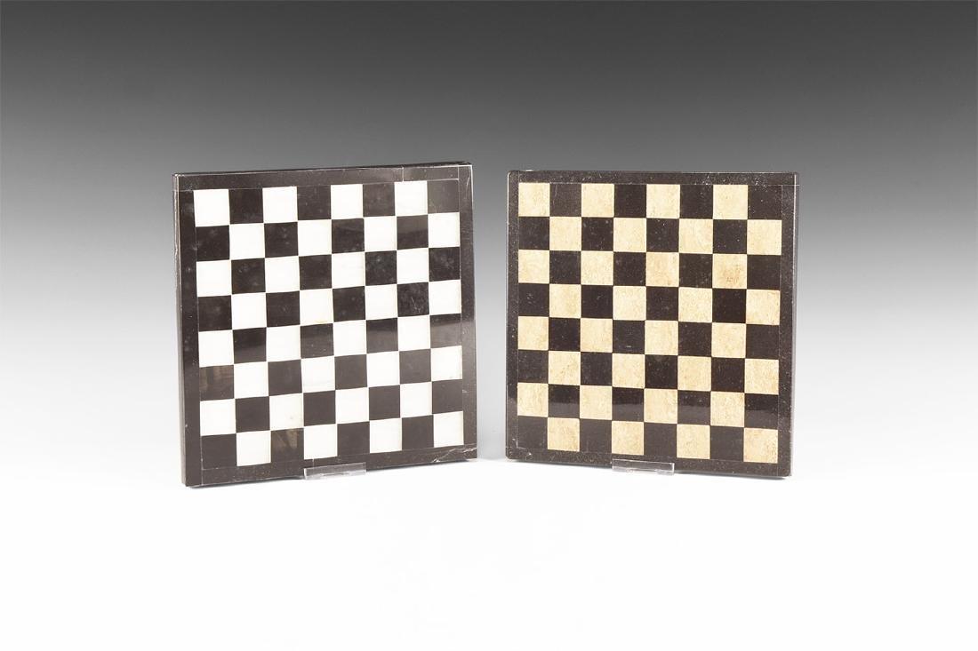Natural History - Stone Chess Board Pair