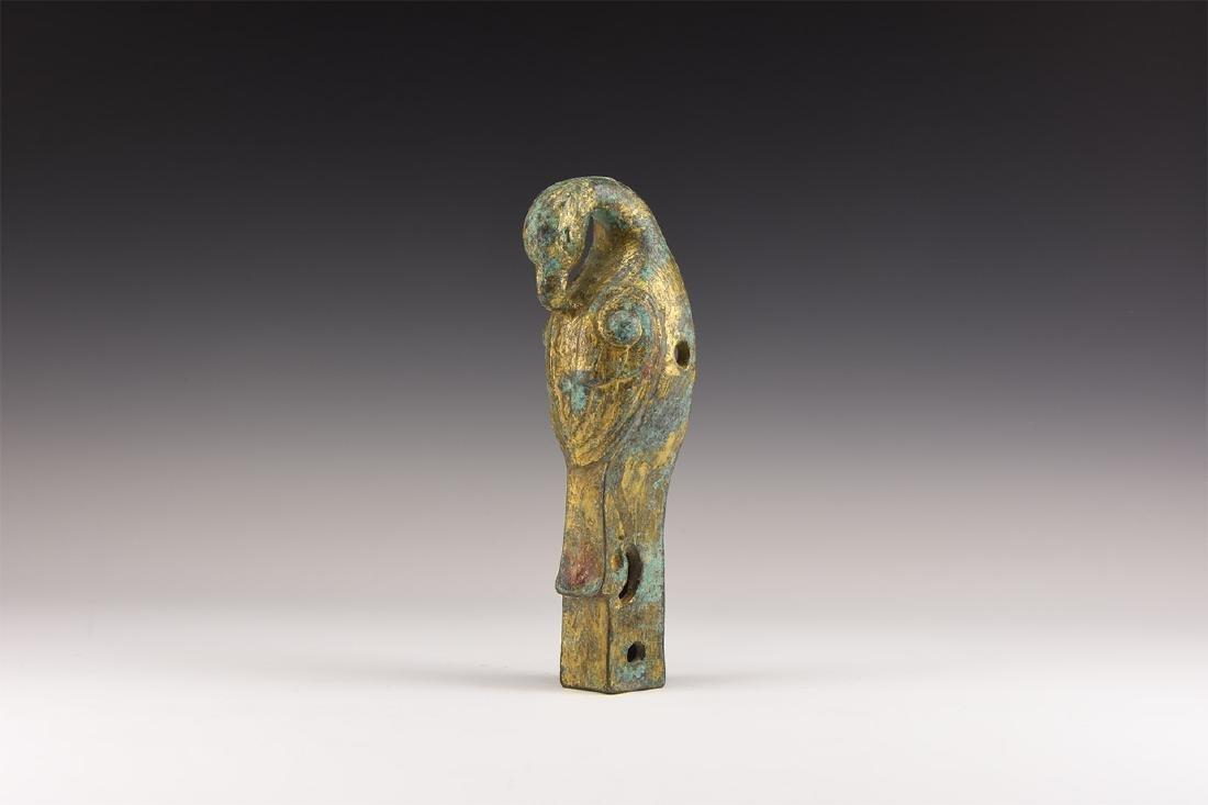 Chinese Style Gilt Bird Statuette.