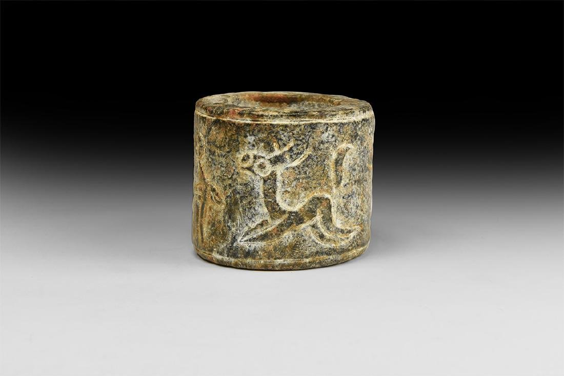 Chinese Carved Stone Ring.