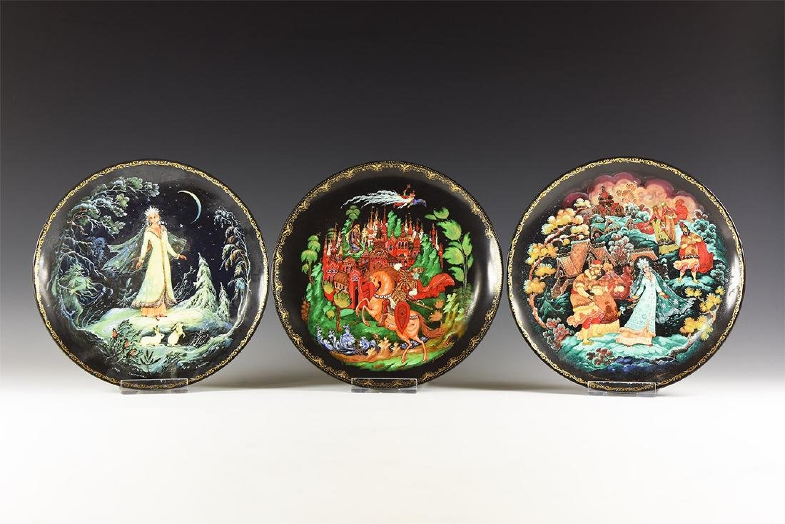 Vintage Decorated Plate Group