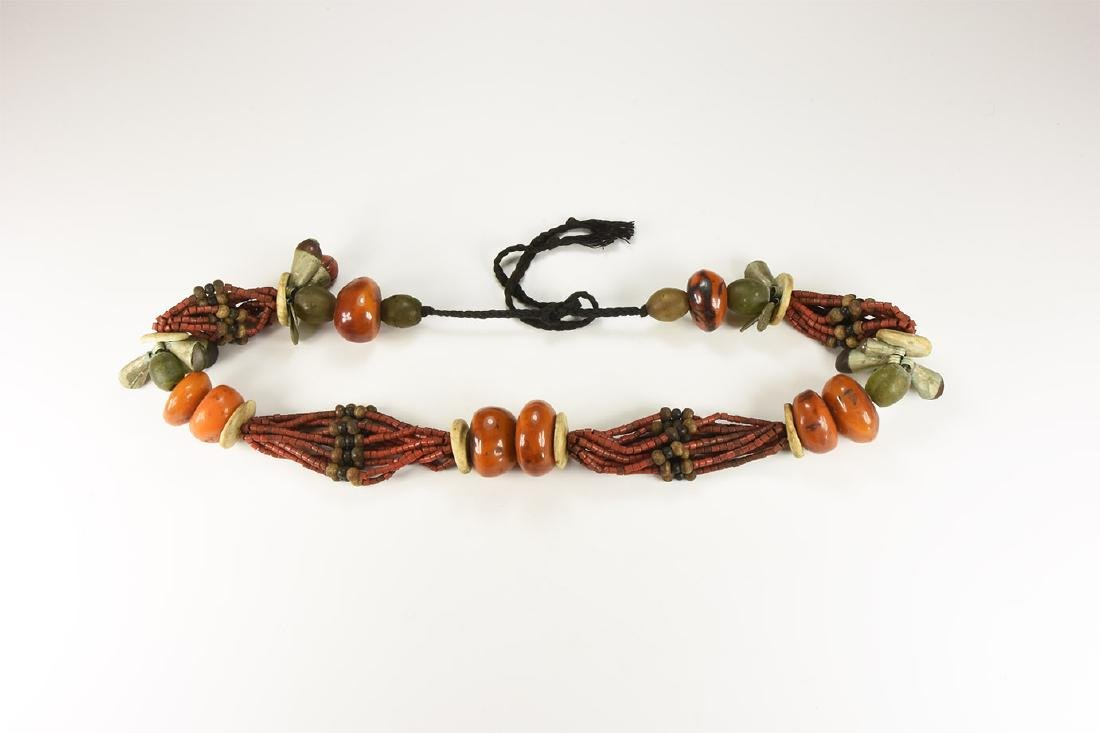 Tibetan Style Amber-Coloured Bead Necklace