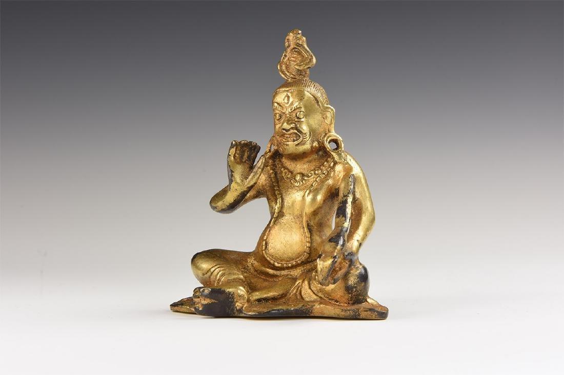 Tibetan Gilt Jambhala Statuette