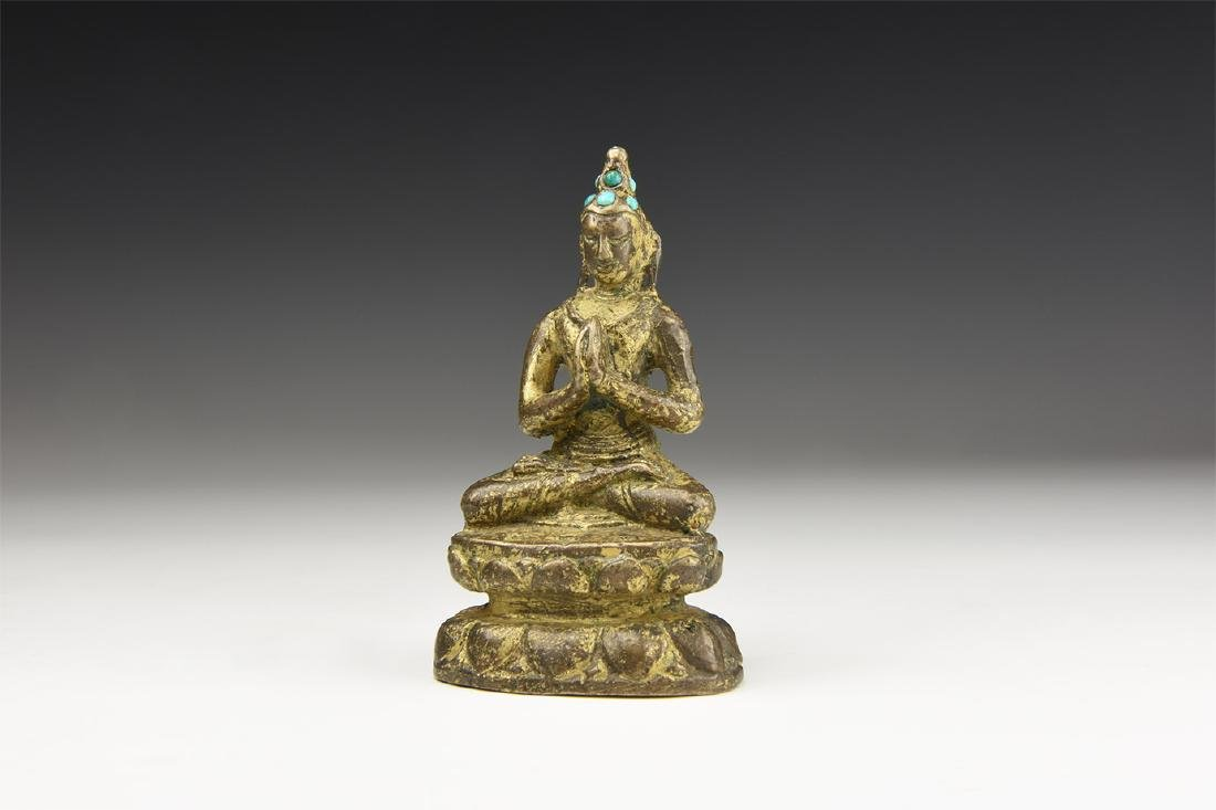 Chinese Gilt Buddha Statuette.