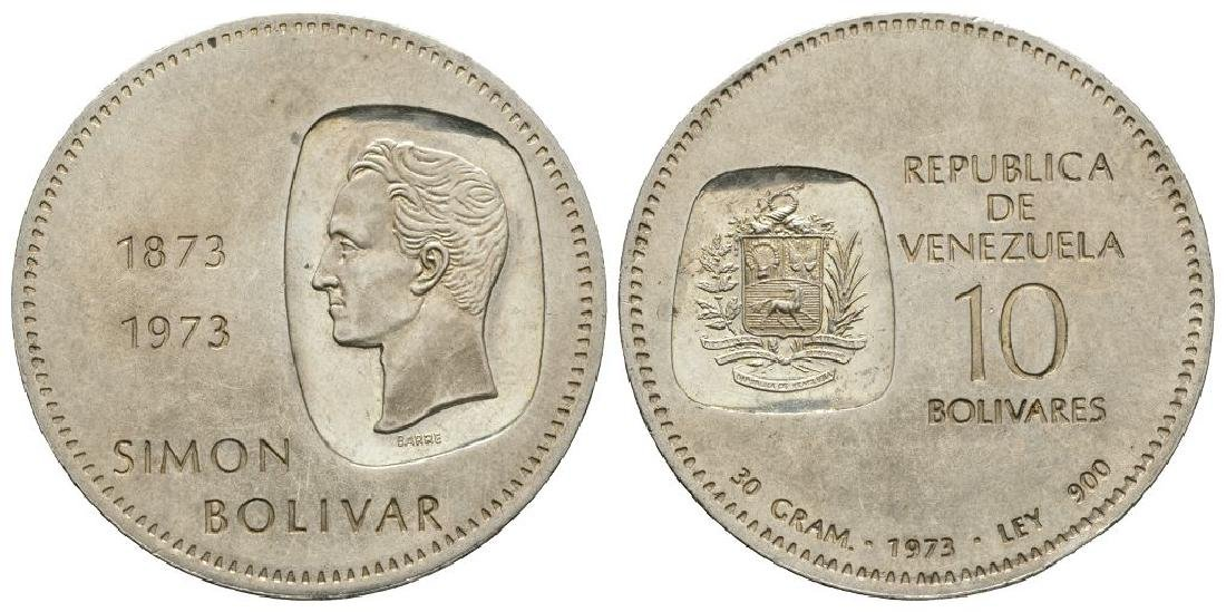 World Coins - Venezuela - 1973 - 10 Bolivars