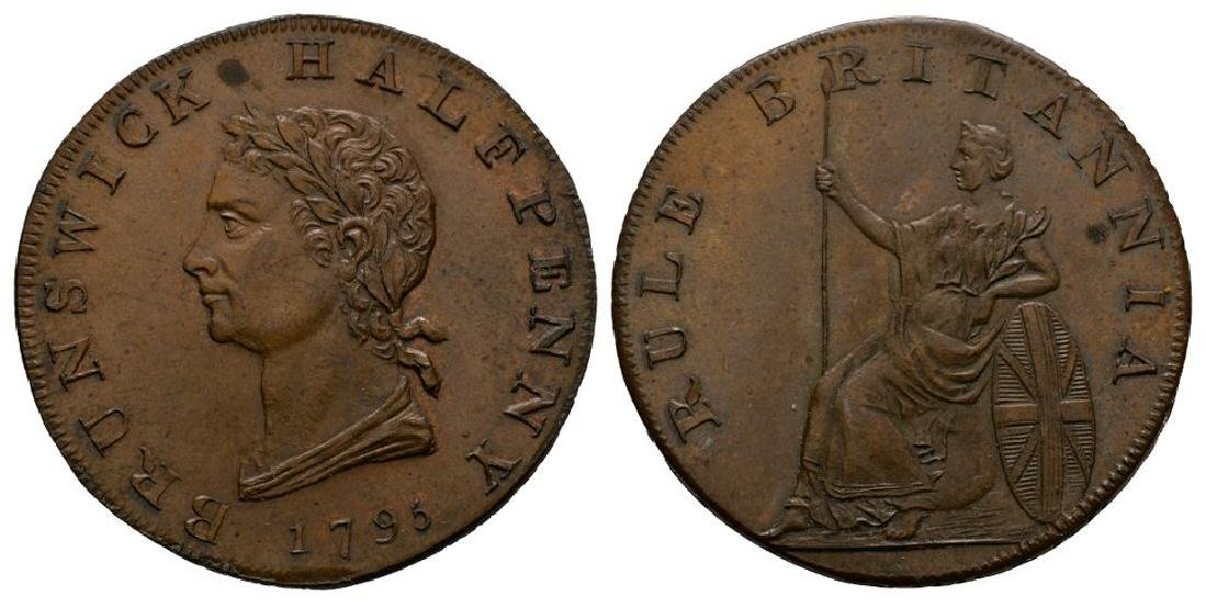 Middlesex - 1795 - Brunswick Token Halfpenny