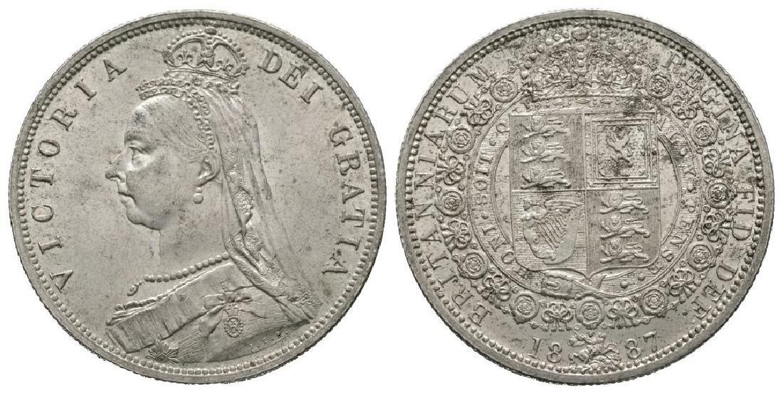 English Milled Coins - Victoria - 1887 - Halfcrown