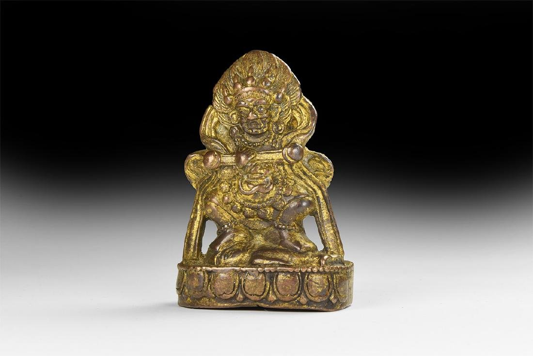 Chinese Style Gilt Demon Statuette.