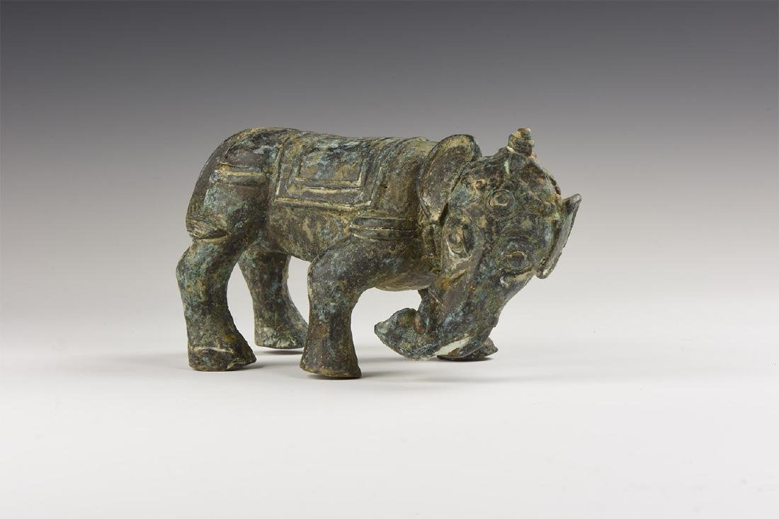 Chinese Bronze Elephant Statuette.