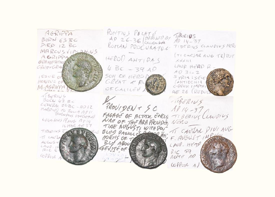 Roman - Agrippa, Augustus and Tiberius - Bronzes [6]