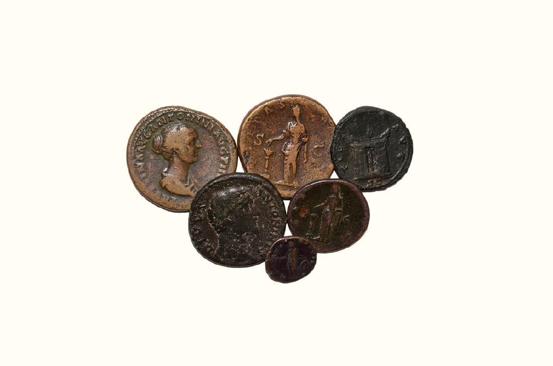 Roman Coins - Antoninus Pius, Faustina I and Faustina