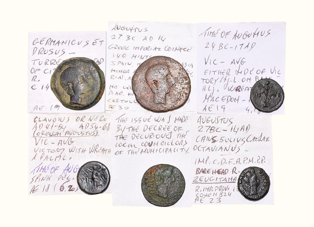 Roman Coins - Augustus to Germanicus and Drusus -