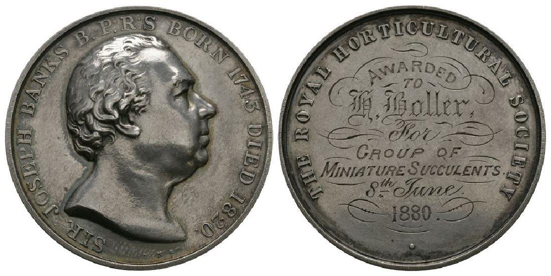 RHS - 1880 - Sir Joseph Banks Silver Prize Medal