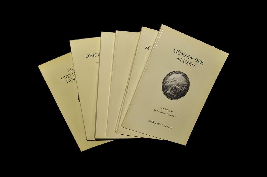 Numismatic Bank Leu Ag Zurich Sale Catalogues 39, 40,