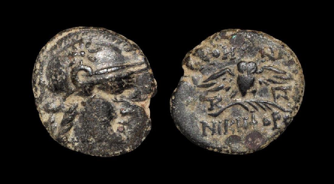 Greek Coins - Pergamum - Mysia - Owl on Branch Bronze