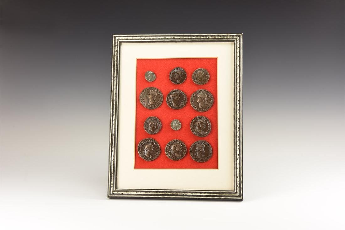 Roman Imperial Coins - Framed Replicas Display