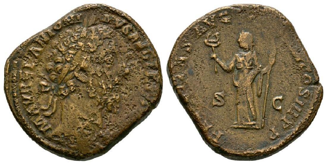 Roman Coins - Marcus Aurelius - Felicitas Sestertius